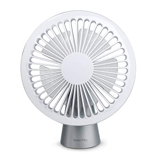 Welltop USB Desk Fan Personal Handheld Fan 3 Speeds USB Powered Table Cooling Fan - Plugs into Computer - Adjustable 42° Up and Down, Powerful Quiet Fan for Home and Office (White)