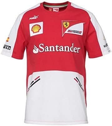 FERRARI Puma Scuderia - Camiseta, Hombre, Rojo/Blanco, Large ...