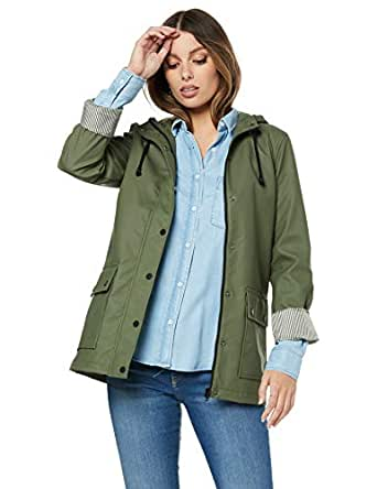 French Connection Women's Autumn MAC, Khaki, Eight