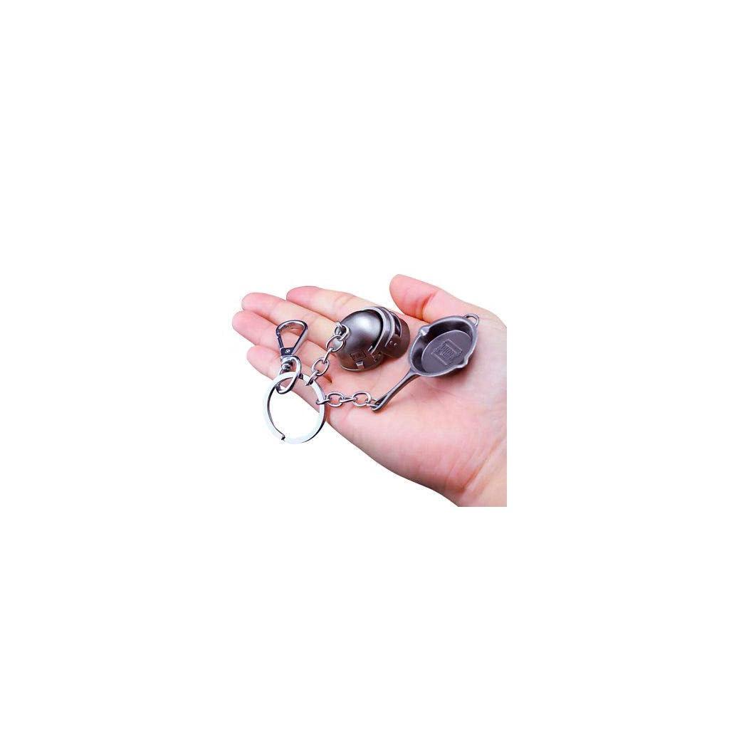 M416 keychain and Level 3 Helmet keychain