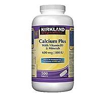 Kirkland Signature Calcium Plus 600 mg, 500 Tablets