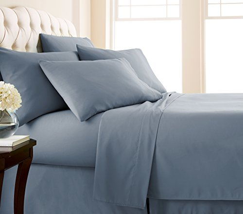 Southshore Essentials - 6 Piece Brushed Microfiber Sheet Set, Steel Blue, Queen