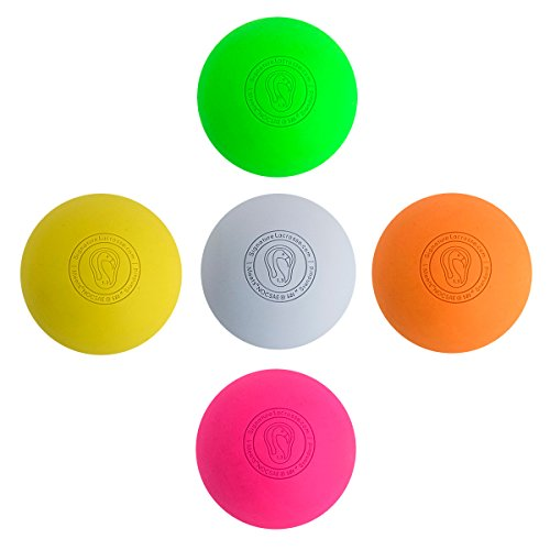 Signature Lacrosse Ball Set - Massage Balls, Myofascial Release Tools, Back Roller, Muscle Knot...