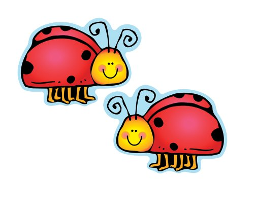 Carson Dellosa D.J. Inkers Ladybugs Cut-Outs (620040) ()