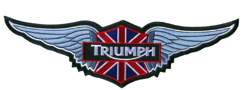 Triumph Silver Wings Jacket Cafe Racer Biker Patch
