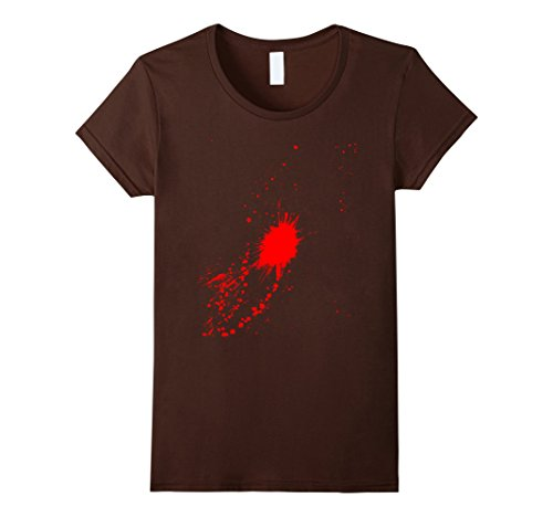 Women's Halloween Costume Blood Stained T Shirt XL Brown (Creative Halloween Costumes Ideas)