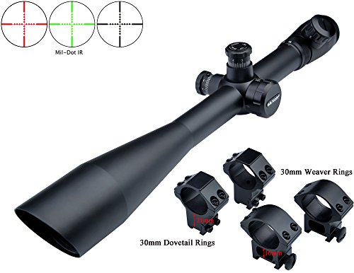 Eagle Eye Saxon Lunette De Visée Rifle Scope 10-40x50 SF (30mm) Rouge Vert  coudé Objectif Mil Dot Riflescope avec 2 Types de Monts  Amazon.fr  Sports  et ... 7535450a1b0a