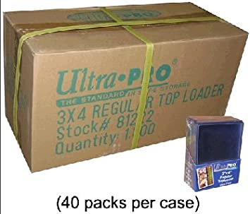 Top-Loader recuerdos Trading Card Holder 3 X 4 Pulgadas x 240PT de espesor 10 Pack