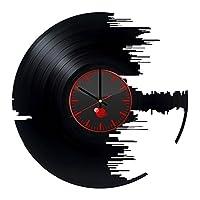 Handmade Vinyl Wall Clock Star Wars Game Darth Vader Jedi Order Logo Emblem Handmade Vinyl Record Wall clock vinyl sticker
