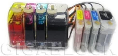 Sistema continuo de tinta a granel Gigablock (CIS) para impresora HP diseño Jet 111 Que Se Utiliza en HP82 cartucho cartuchos de impresora HP11: Amazon.es: Electrónica