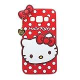 Galaxy J7 Case 3D Minnie Mickey Cartoon Animal Series Soft Silicone Case For Samsung Galaxy J7 J700 J700F (Red Hello Kitty)