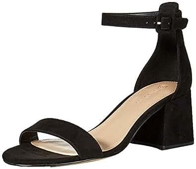 The Drop Lyon Block Heeled Strappy Sandal, Black, 6