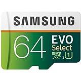 Samsung EVO Select 64GB microSDXC UHS-I U1 100MB/s Full HD & 4K UHD Memory Card with Adapter (MB-ME64HA)