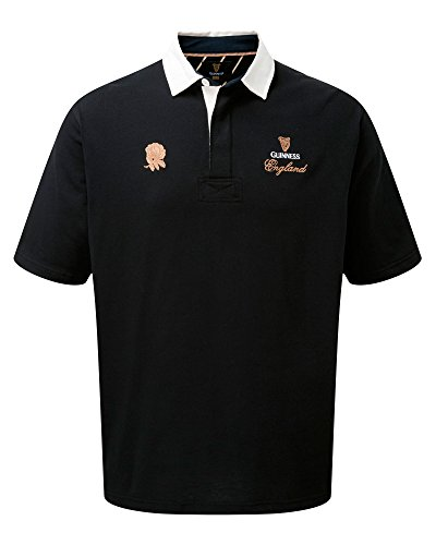 Cotton Traders Mens Guinness Short Sleeve Classic Rugby Shirt England XL - England Clothes Rugby