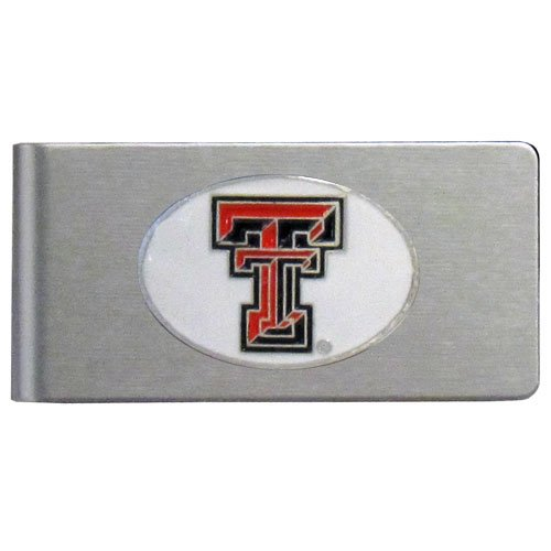 Tech Red Raiders College Watches - NCAA Texas Tech Red Raiders Brushed Money Clip