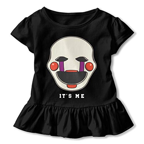 Five Nights at Freddy's Marionette It's Me Toddler Baby Girls' Cotton Short Sleeve Ruffle T-Shirts -