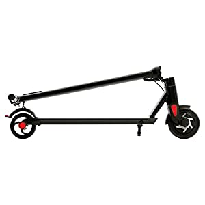 Jetson Slate Folding Electric Kick Scooter for Kids and Adults - Sleek LED Front Light & LED Display - Never-flat Rubber Tires & Convenient Kickstand - Easy Assembly, (Black)