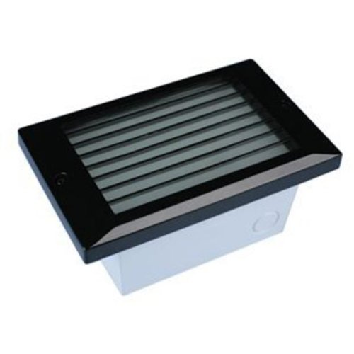 LST-L-WH-BK LED Step Star Louver Cover 5W 120V 3100K Dimmable Wall or Ceiling Mount Recessed Light, Black Finish with Frosted Lens by National Specialty Lighting