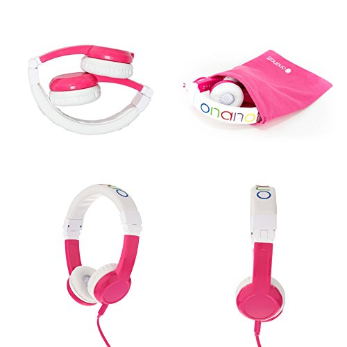 Explore Foldable Volume Limiting Kids Headphones – Pink
