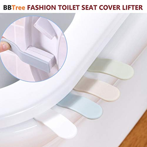 (BBTree Fashion Toilet Seat Handle Seat Cover Lifter Avoid Touching Self adhesive Hygiene (4pack) (Simple four-color))