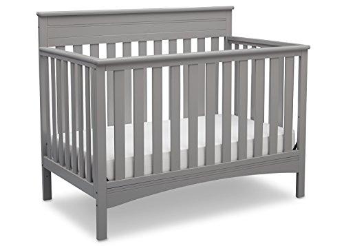 Delta Children Fabio 4-in-1 Convertible Crib, Grey by Delta Children