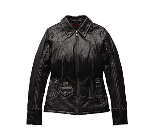 Harley-Davidson Official Women's Intrepidity Leather Jacket, Black (Medium)