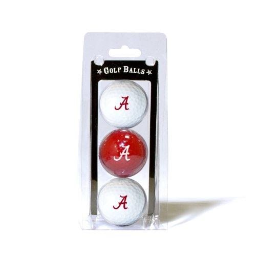 - Team Golf NCAA Alabama Crimson Tide Regulation Size Golf Balls, 3 Pack, Full Color Durable Team Imprint