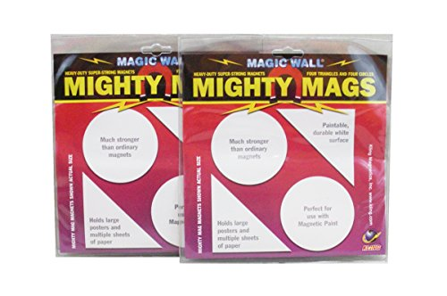 Set of 2 Packages of Magic Wall Mighty Magnets for Magnetic -