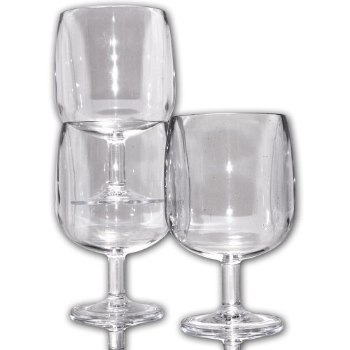 (Table in a Bag C030512 Clear Plastic Wine Glasses, 8-Ounce, Set of 12)
