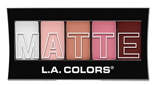 L.A. Colors 5 Color Matte Eyeshadow, Pink Chiffon, 0.08 - Matte Pink