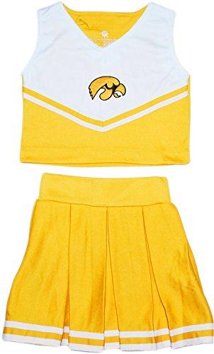Piece Cheerleader 2 Dress (University of Iowa Hawkeyes NCAA College 2-Piece Cheerleader Dress)