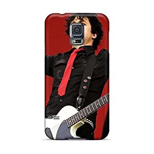 Samsung Galaxy S5 Excellent Hard Phone Cases Allow Personal Design Realistic Green Day Band Skin [xRp5015mFaY]