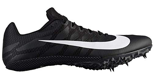 best service 26a28 ced81 Nike Zoom Rival S Sprint Track Spikes Shoes Mens Size 7.5 (Black, White)