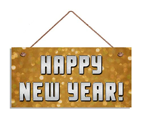 TOPFINES Happy New Year Sign, Sparkly Lights Holiday Sign, 5