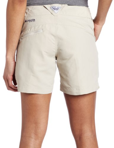 (Columbia Women's Coral Point II Short, UV Sun Protection, Moisture Wicking Fabric, Fossil, Medium x 6