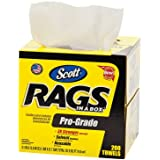 Kimberly-Clark Scott 39364 Pro-Grade Disposable Rags, White (Box of 200)