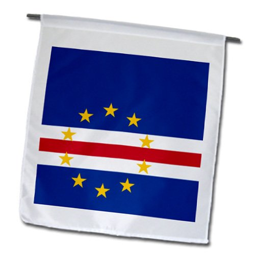 InspirationzStore Flags - Flag of Cape Verde island country - Cape Verdean dark navy blue red white with 10 yellow stars - Flags - 12 x 18 inch Garden (Cape Verde Islands Flag)