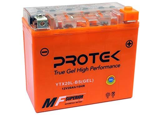 Protek YTX20L-BS YTX20HL-BS GYZ20L GYZ20HL 12V 20Ah Sealed AGM Gel Type Battery Maintenance Free For 2011-2018 Can-Am Commander Defender 1000 800, 2009-2018 Kawasaki KAF620F Mule 4010 4x4 ()