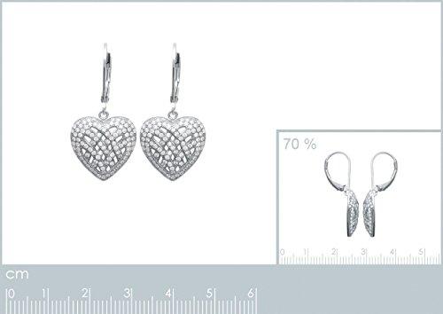 Boucles d'oreilles Dormeuses Argent 925 Rhodié OZ Microserti