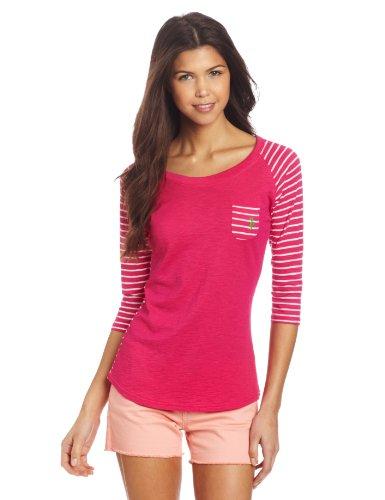 U.S. POLO ASSN Junior's 3/4 Sleeve Cotton Slub T-Shirt, P...