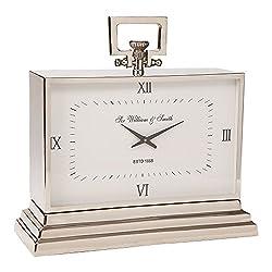 Ethan Allen Large Nickel Square Clock