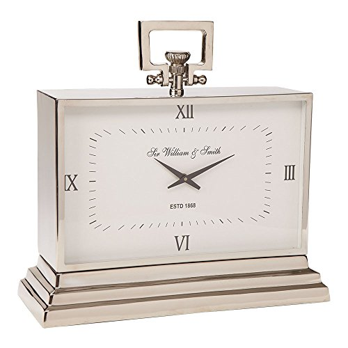 Ethan Allen Large Nickel Square Clock