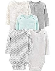 Simple Joys by Carter's Unisex-Baby 5-Pack Neutral Long-Sleeve Bodysuit