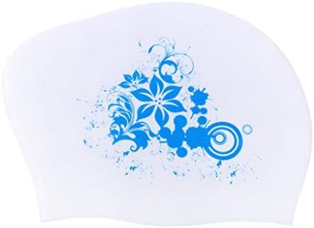 Fenteer スイムキャップ スイミングキャップ 水泳 競泳 水着用 キャップ トレーニング ダイエット フィットネス用 水泳帽 シリコン 女性 全9色
