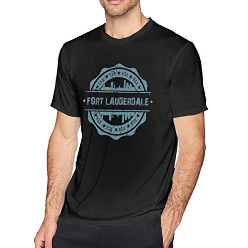 X-JUSEN Men's Fort Lauderdale Florida Short-Sleeve Cotton T-Shirts Costumes Tee Top