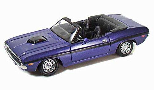Maisto 1970 Dodge Challenger R/T Convertible 1/24 Scale Diecast Model Car Purple ()