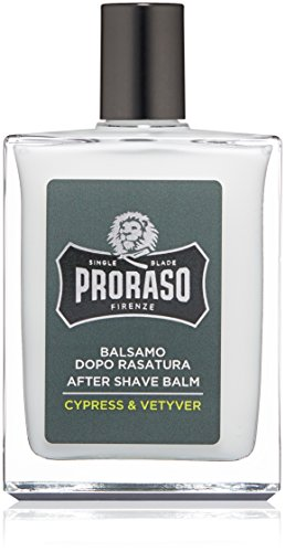 Proraso Single Blade After Shave Balm, Cypress & Vetyver, 3.4 fl. oz