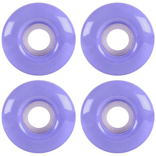 KSS Gloss 97A Skateboard Wheel Set (Set of 4), Lavender Purple, 51mm