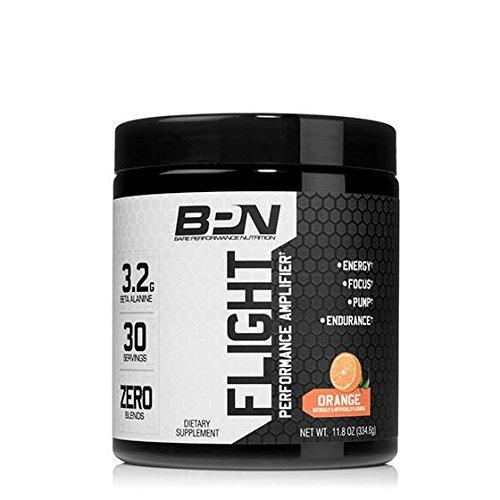FLIGHT Complete Pre-Workout Powder - Energy, Focus, Endurance & Pump Amplifier, Orange - 30 Servings