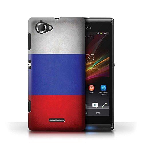 Etui / Coque pour Sony Xperia L/C2105 / Russie conception / Collection de Drapeau